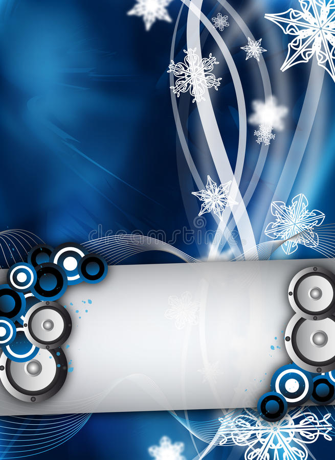 Download Winter event/party stock vector. Image of loudspeakers - 21244318