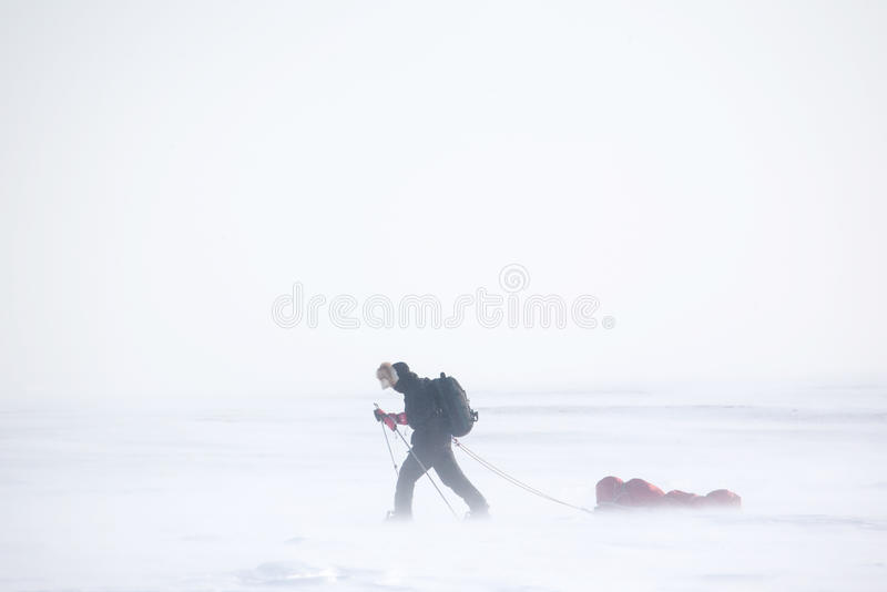Winter Expedition stock photo