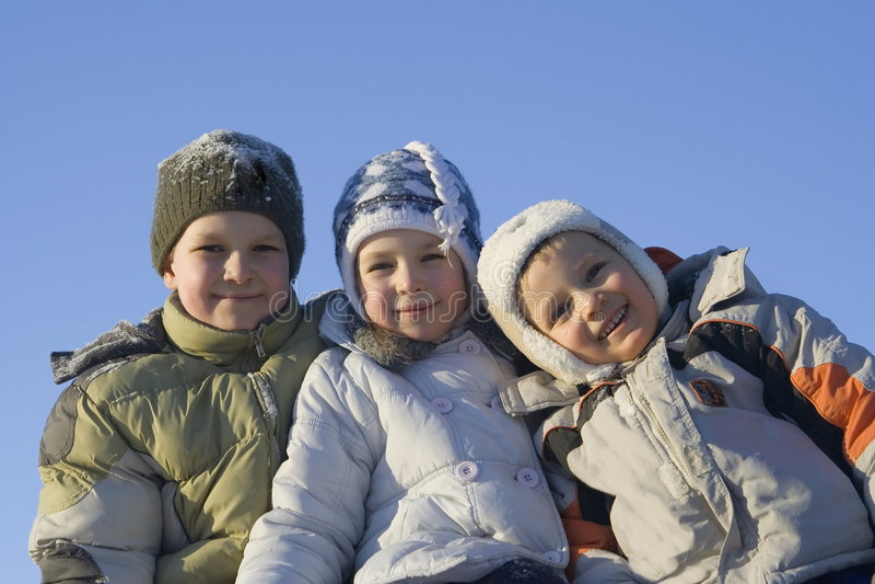 Winter family stock photos