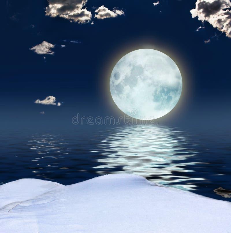Winter fantasy background stock illustration