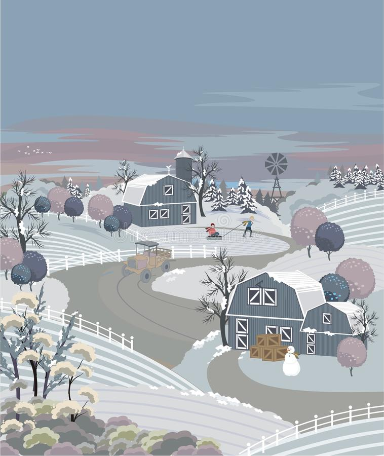 Free Winter Farm Royalty Free Stock Images - 11336049