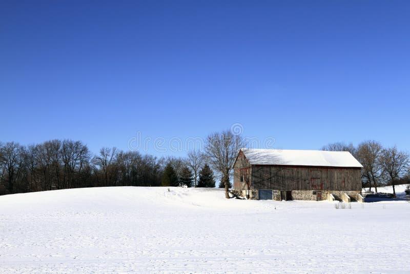Winter On The Farm Stock Photos