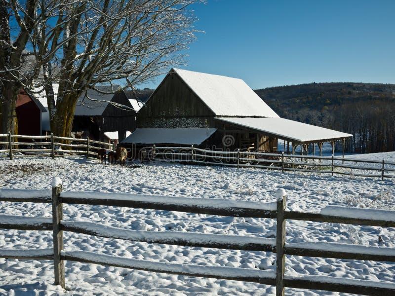 Winter Farmscape stock photos