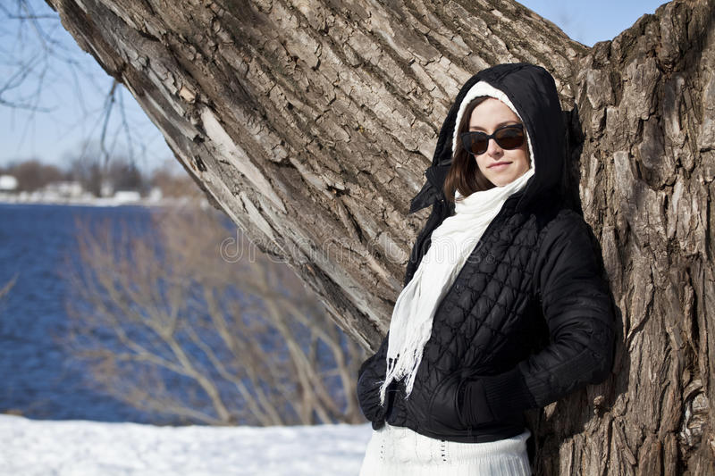 Winter fashion royalty free stock photo