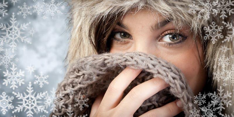Winter fashion stock image