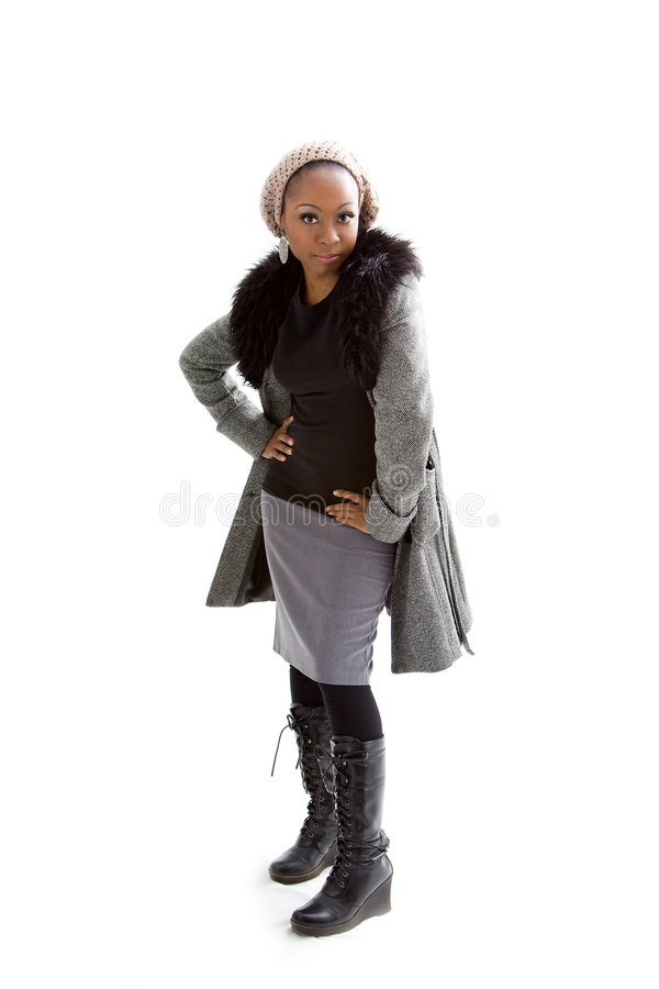 Download Winter fashion stock image. Image of winter, grey, white - 7450935