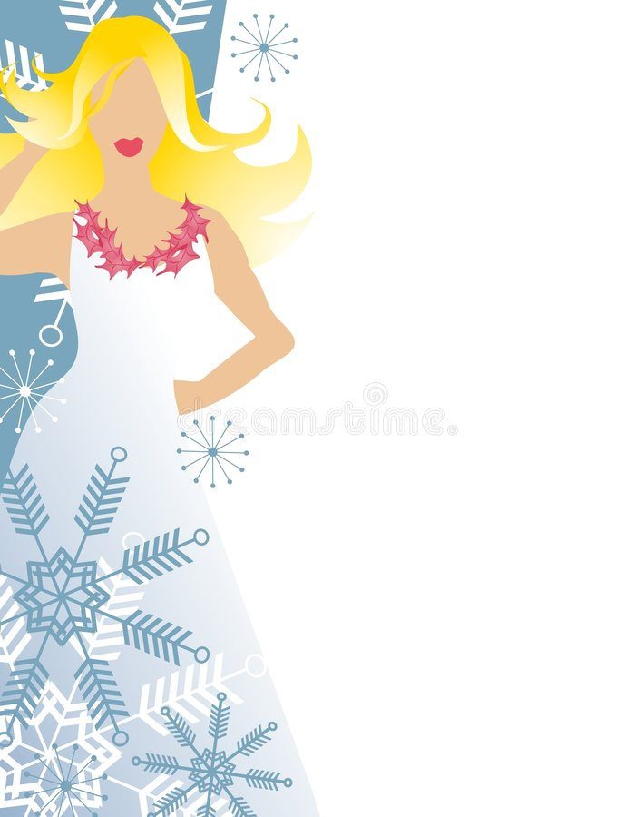 Winter Fashion Blonde Model royalty free illustration