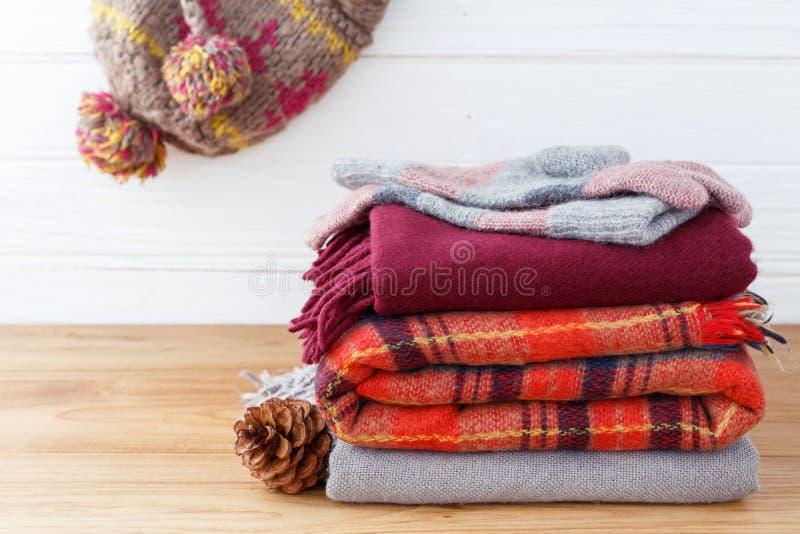 Winter fashion clothing background royalty free stock photos
