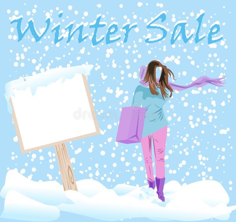 Winter Fashion Sale Stickers stock photos