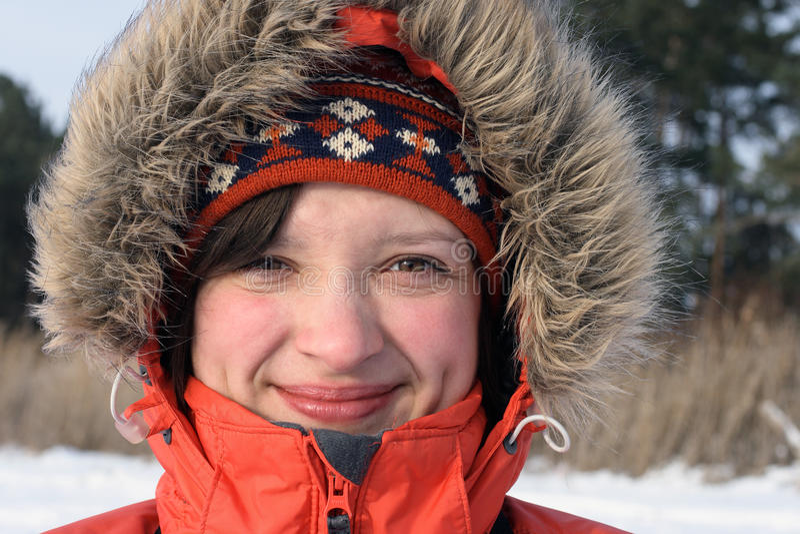Download Winter female portrait stock photo. Image of brunette - 11781194