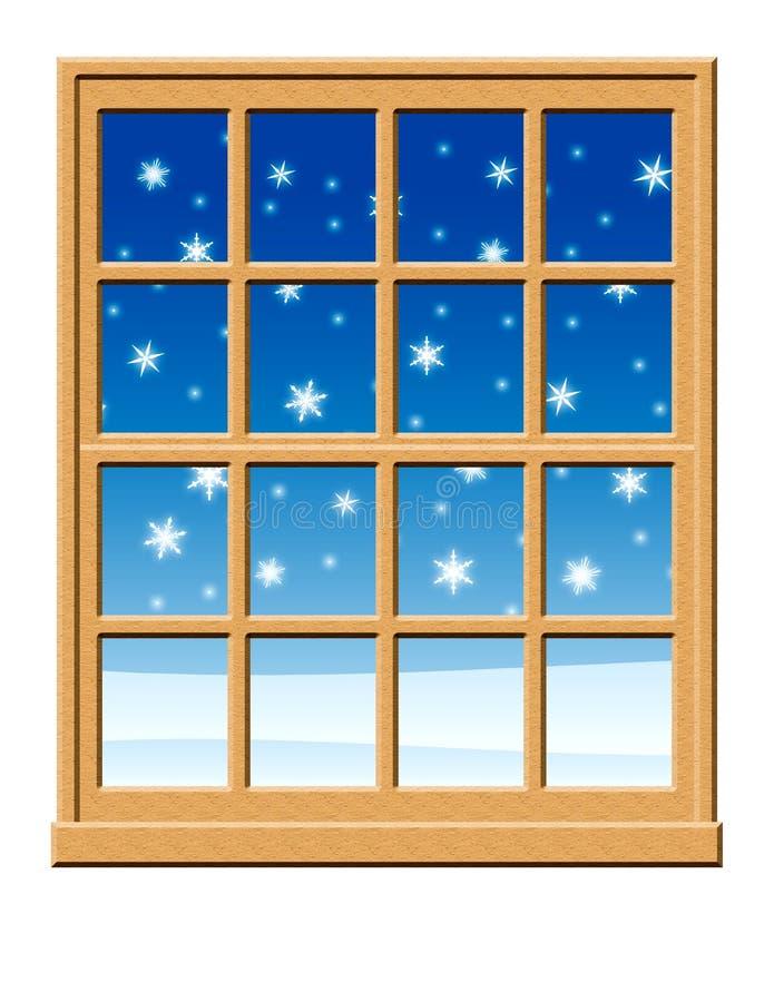 Winter-Fenster-Szene stockbild