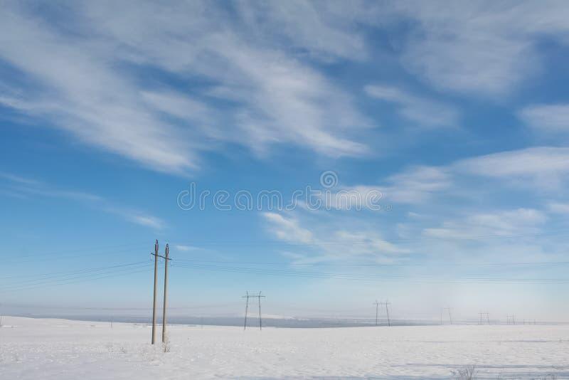 Winter field lizenzfreie stockfotos