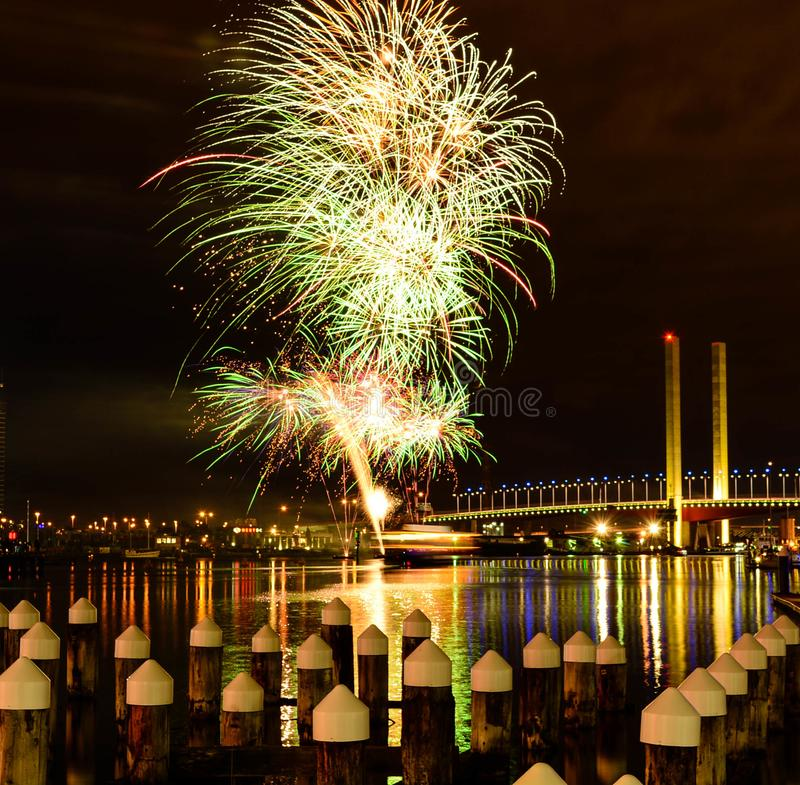 Free Winter Fireworks Royalty Free Stock Images - 136430129