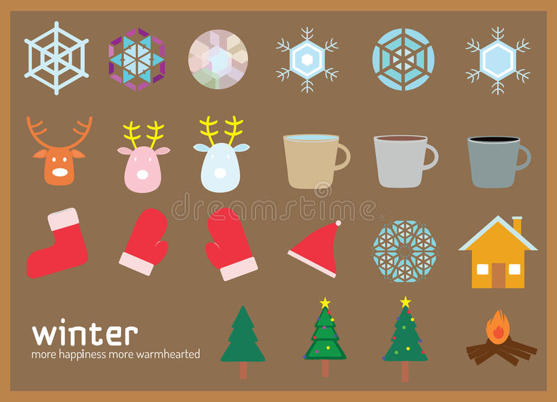 Winter flat icon royalty free stock images