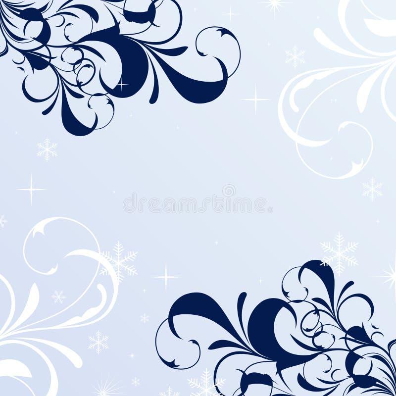 Winter floral background vector illustration