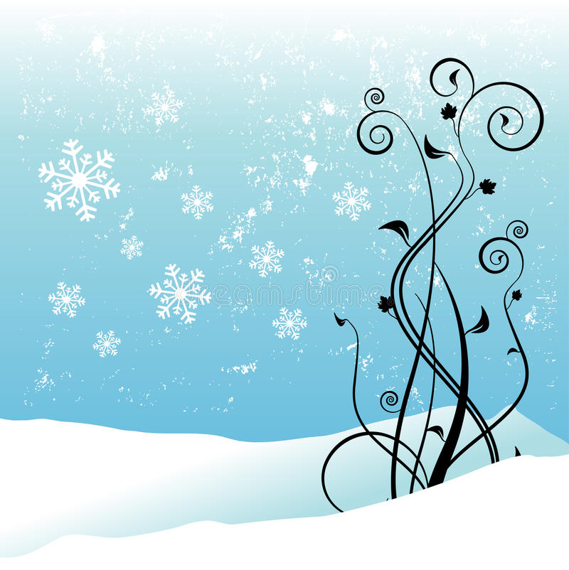 Winter Floral Design Royalty Free Stock Photos