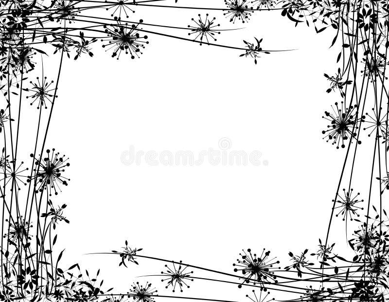 Winter Flower Garden Border vector illustration
