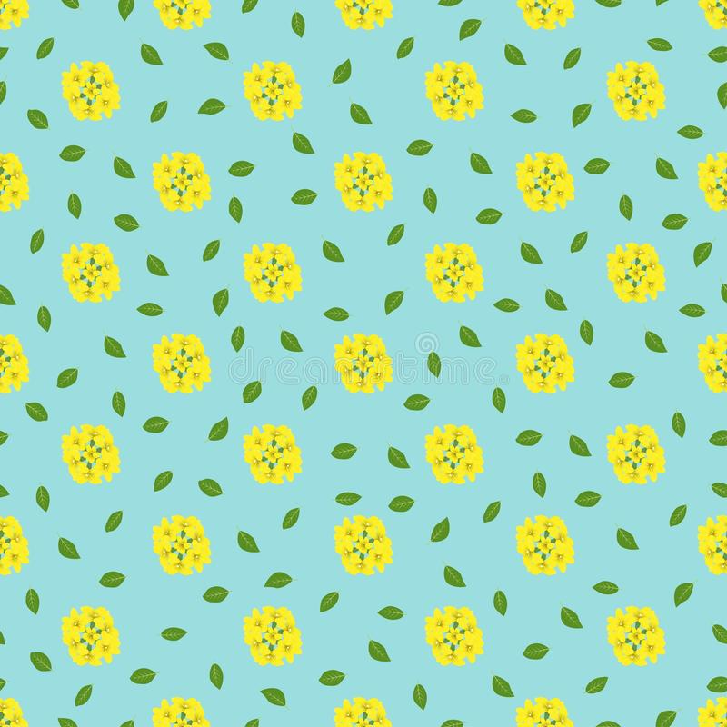 Winter Jasmine and leaves vector pattern seamless background half drop repeat type vector illustration