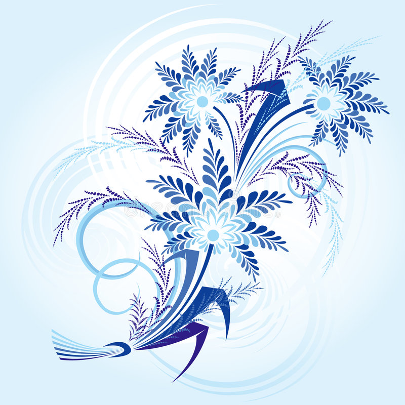 Download Winter-flowers stock vector. Image of beautiful, christmas - 3672205