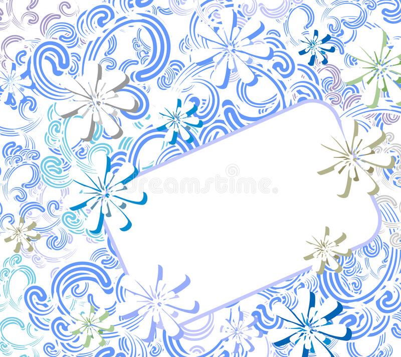 Free Winter Flowers Card Stock Image - 22086561