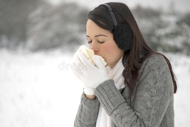 Winter flu royalty free stock photography