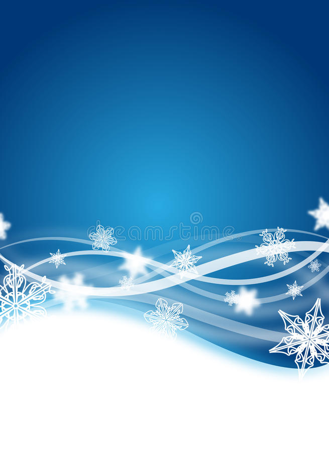 Winter flyer. Abstract blue winter flyer design with snowflakes royalty free illustration