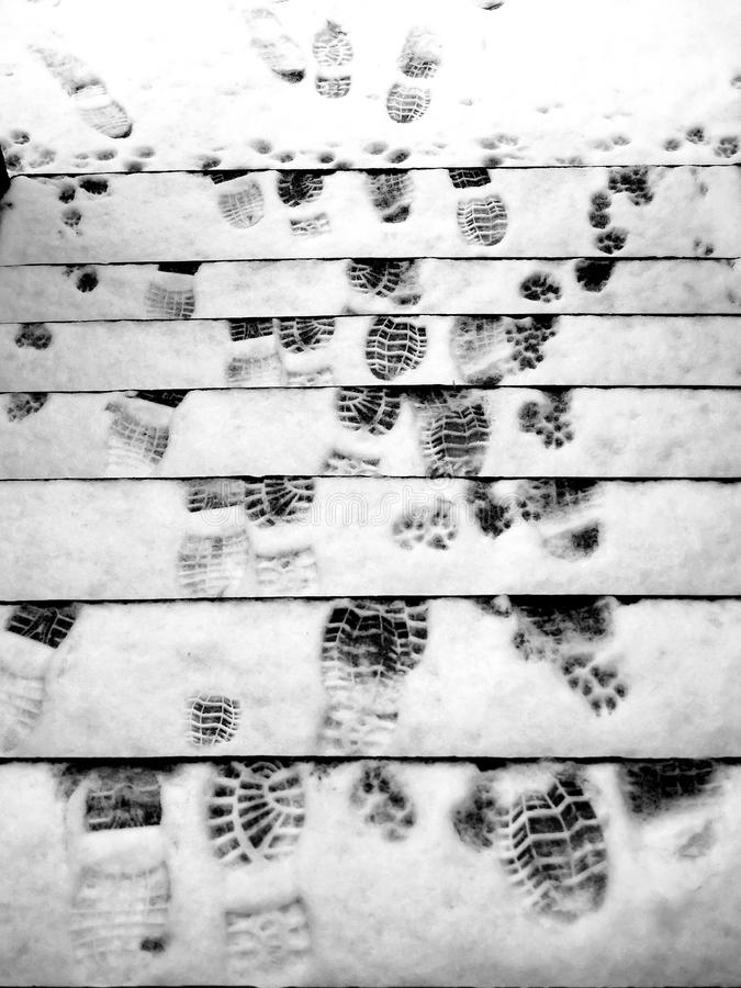 Download Winter Footprints stock image. Image of lines, hazard - 16727581