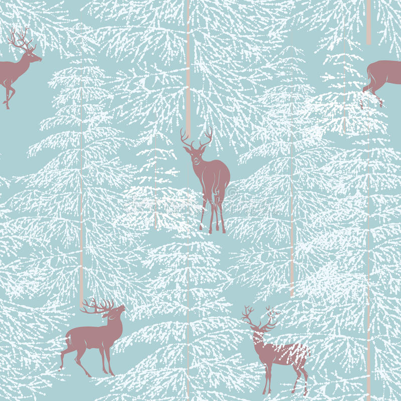 Download Winter forest stock vector. Image of textile, paper, blue - 22067953