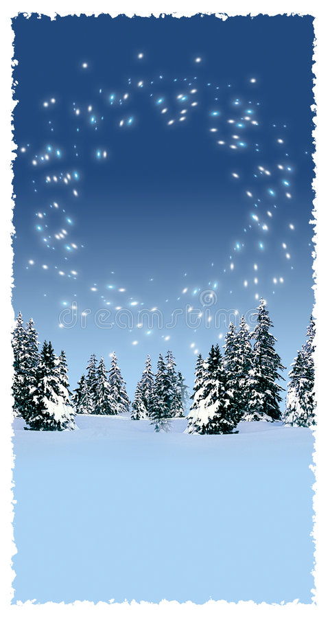 Download Winter forest stock illustration. Image of celebrate, wishes - 4661470
