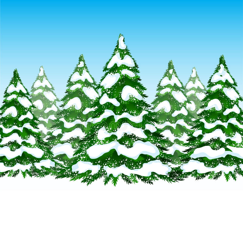 Download Winter forest card stock vector. Illustration of forest - 27135335