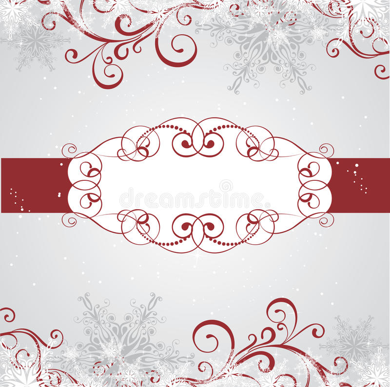 Download Winter frame stock illustration. Image of snowflake, invitation - 17262629