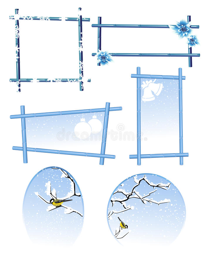 Winter Frame Set Stock Photo