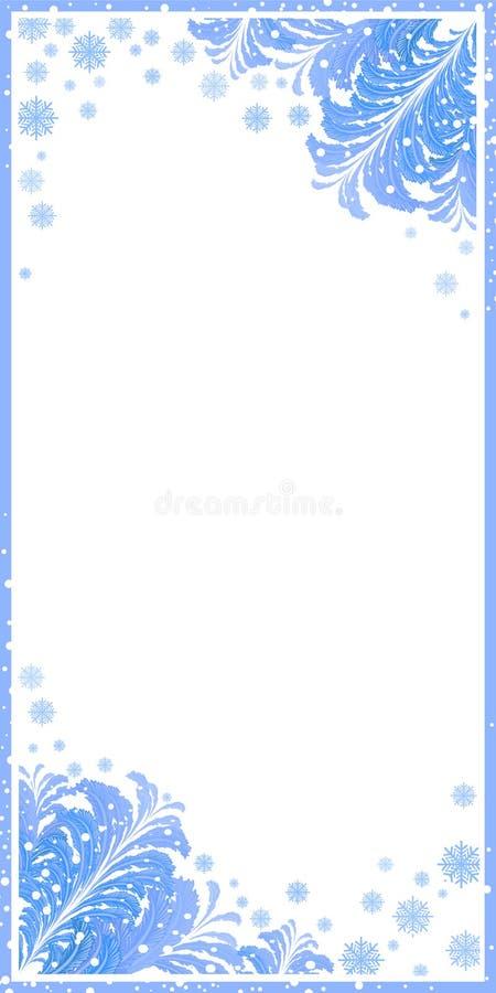 winter, frame, snow, christmas, background, snowflake, border, vector, snowflakes, frost, white, holiday, illustration, season, ne vector illustration