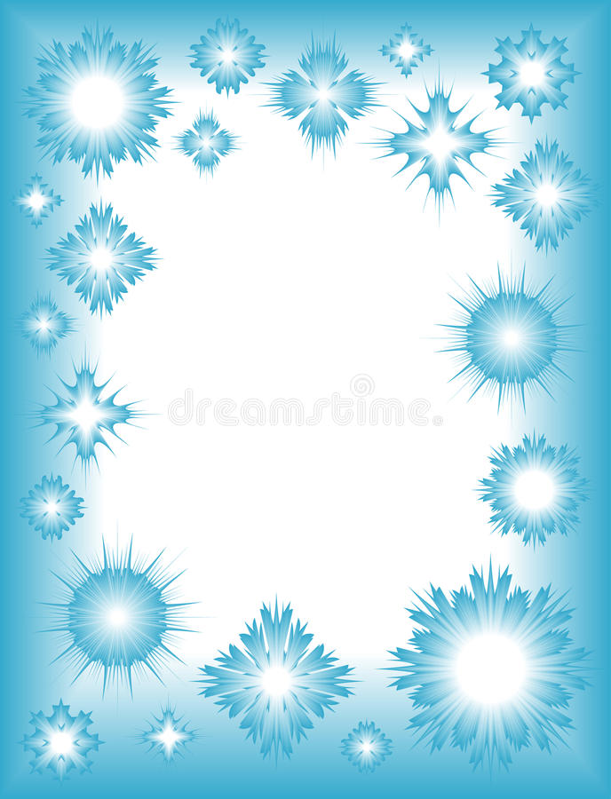Free Winter Frame With Snowflakes Royalty Free Stock Photo - 11829635