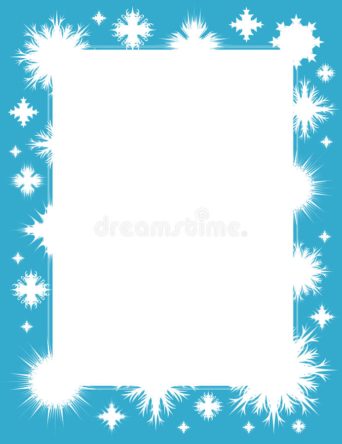 Free Winter Frame With Snowflakes Royalty Free Stock Photo - 11829675