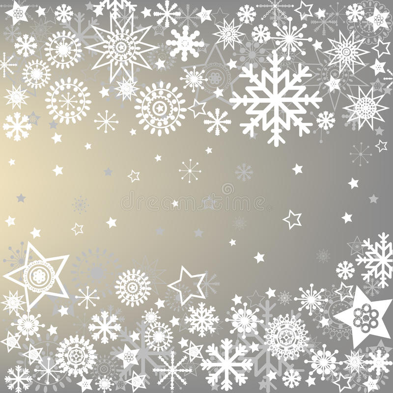 Free Winter Frame With Snowflakes Royalty Free Stock Photo - 22009155