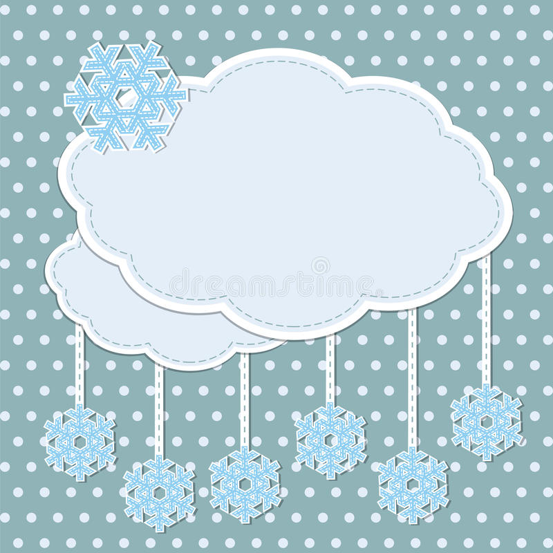 Free Winter Frame With Snowflakes Royalty Free Stock Images - 27548899