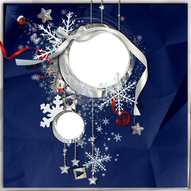 Free Winter Frame With Snowflakes Royalty Free Stock Photography - 7321757