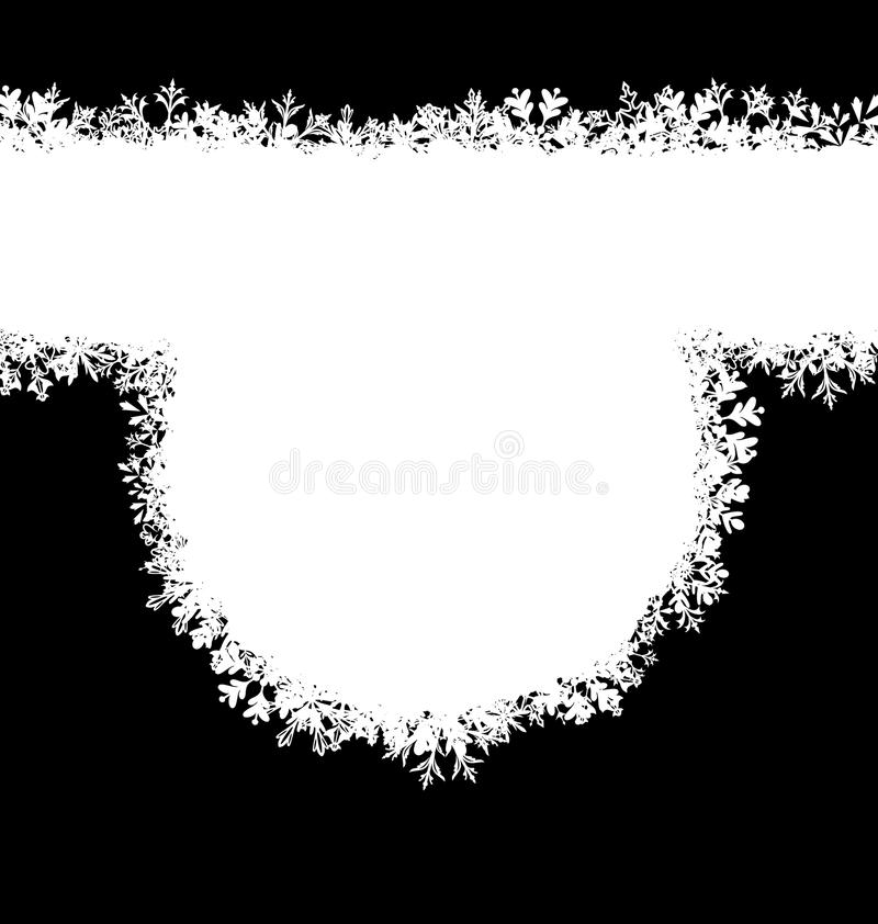 Free Winter Frame With Snowflakes, Holiday Background Stock Photography - 82987952