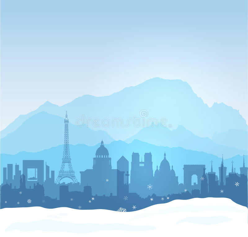 Download Winter in France stock vector. Illustration of business - 32818526