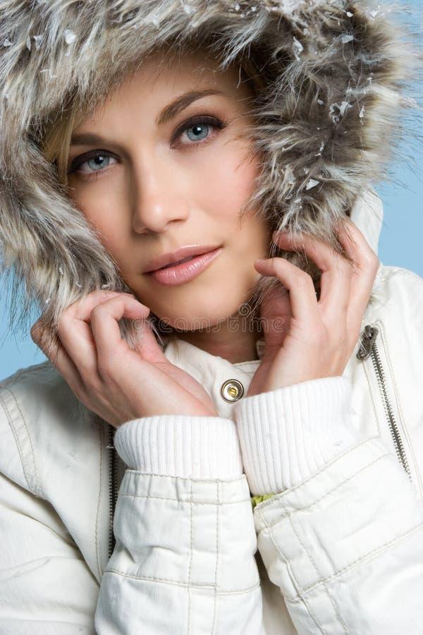 Winter-Frau stockbilder