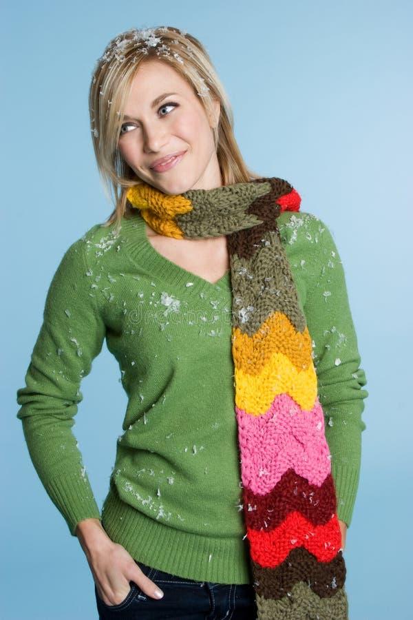 Winter-Frau stockbild