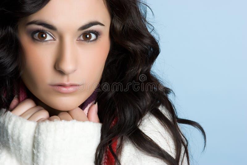 Winter-Frau lizenzfreies stockfoto