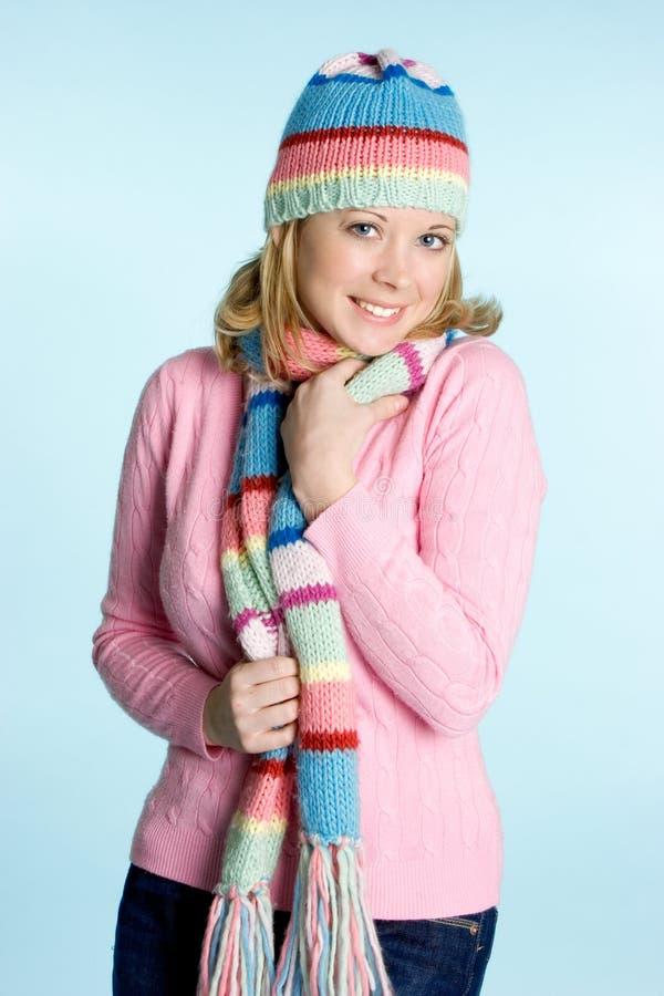 Winter-Frauen-Art und Weise lizenzfreie stockfotografie