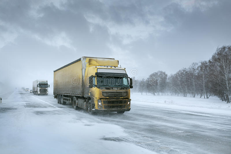 Download Winter freight stock photo. Image of cargo, speed, road - 33643360