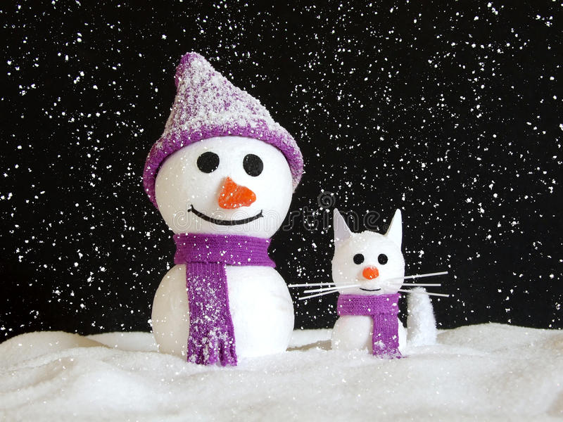 Winter friends royalty free stock photos