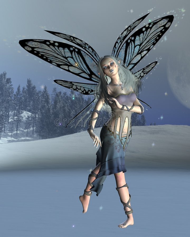 Winter Frost Fairy stock illustration