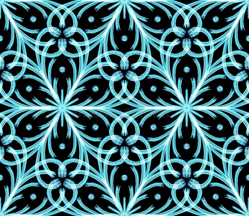 Winter frost and snowflakes theme pattern. stock illustration