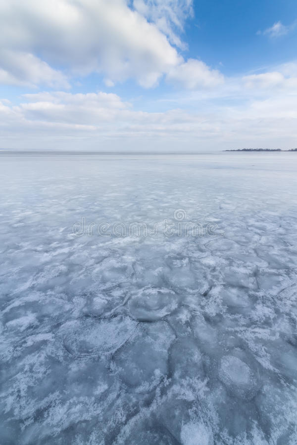 Winter frozen lake. Winter peaceful landscape deserted place royalty free stock photos