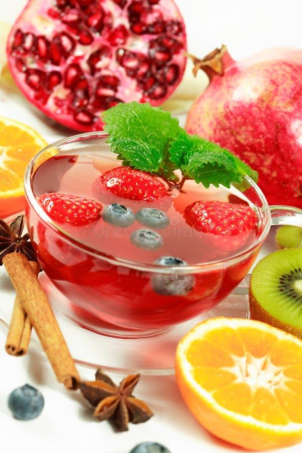 Winter fruit tea stock images